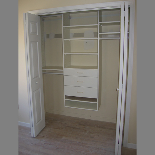 A Typical Design With Drawers Note It Is Best To Paint Your Closet Prior